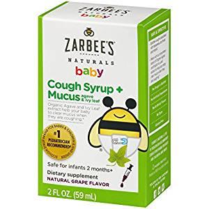 Baby Hustensaft,Husten-Sirup + Schleim Reducer, natürlicher Traubengeschmack